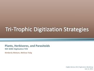 Tri - Trophic  Digitization Strategies