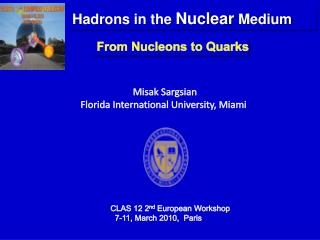 From Nucleons to Quarks