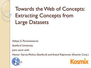 Towards the Web of Concepts: Extracting Concepts from Large Datasets
