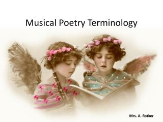 Musical Poetry Terminology
