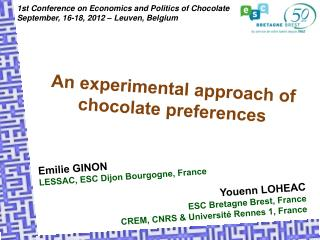 An experimental approach of chocolate preferences