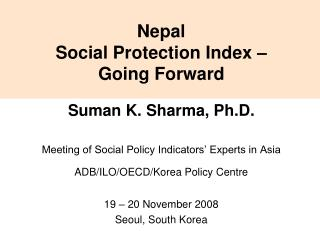 Nepal Social Protection Index – Going Forward