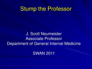 Stump the Professor
