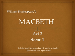 Shakespeare s Macbeth