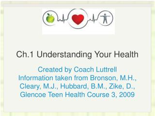 Ch.1 Understanding Your Health