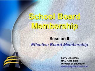 School Board Membership