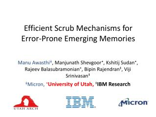 Efficient Scrub Mechanisms for Error-Prone Emerging Memories