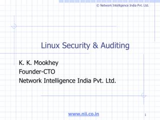 Linux Security & Auditing