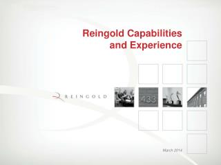 Reingold Capabilities  and Experience