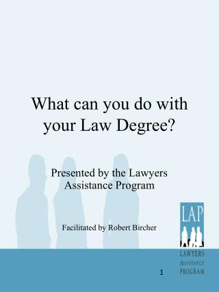 What can you do with your Law Degree?
