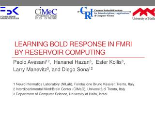 Learning BOLD Response in fMRI  by Reservoir Computing