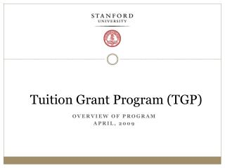Tuition Grant Program TGP
