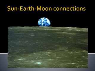 Sun-Earth-Moon connections