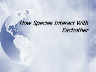 How Species  Interact With  Eachother