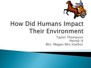 How  Did Humans Impact Their Environment