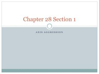 Chapter 28 Section 1