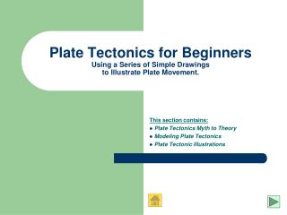 Plate Tectonics for Beginners Using a Series of Simple Drawings to Illustrate Plate Movement.