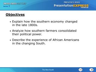 Explain how the southern economy changed in the late 1800s.