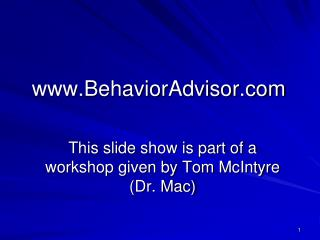 BehaviorAdvisor