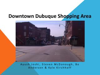 Downtown Dubuque Shopping Area