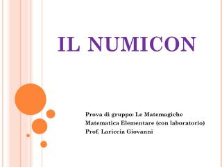 il  numicon