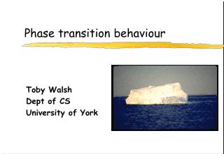 Phase transition behaviour
