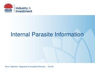 Internal Parasite Information