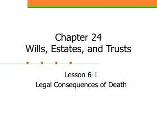 Chapter  24 Wills, Estates, and Trusts