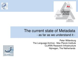 The current state of Metadata - as far as we understand it -