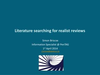 Literature searching for realist reviews