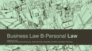 Business  Law B-Personal  Law