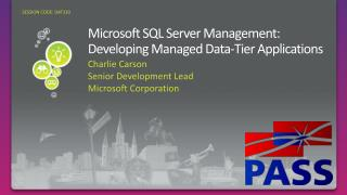 Microsoft SQL Server Management: Developing Managed Data-Tier Applications