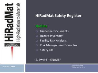 HiRadMat  Safety Register