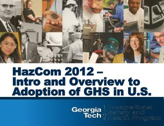 HazCom  2012 –  Intro and Overview to Adoption of GHS in U.S.