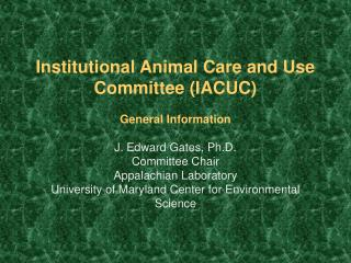 Institutional Animal Care and Use Committee IACUC