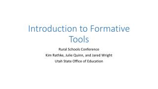 Introduction to Formative Tools