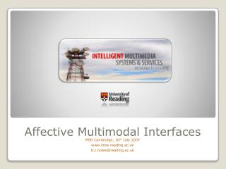 Affective Multimodal Interfaces