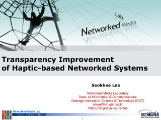 Transparency Improvement  of Haptic-based Networked Systems