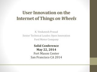 User Innovation on the Internet of Things  on Wheels
