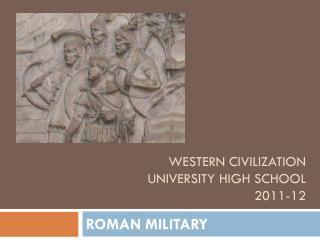 Western civilization University high school 2011-12