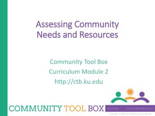 Assessing Community Needs and Resources