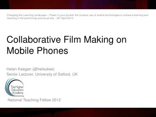 Collaborative Film Making  on  Mobile Phones