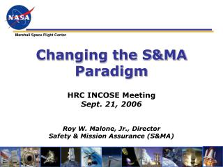Changing the S&MA Paradigm
