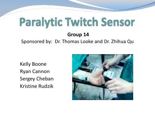 Paralytic Twitch Sensor