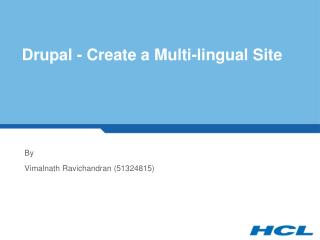 Drupal - Create a Multi-lingual Site