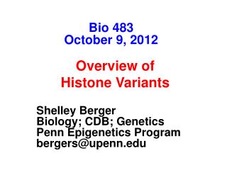 Shelley Berger The Wistar Institute University of Pennsylvania