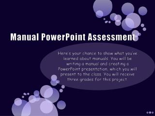 Manual PowerPoint Assessment