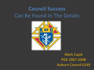 Council Success Can Be Found In The Details