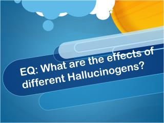 EQ: What are the effects of different Hallucinogens?