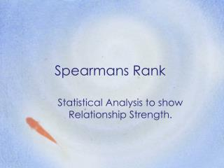 Spearmans  Rank